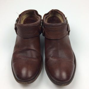 Frye Leather Motorcycle Mules Size 8